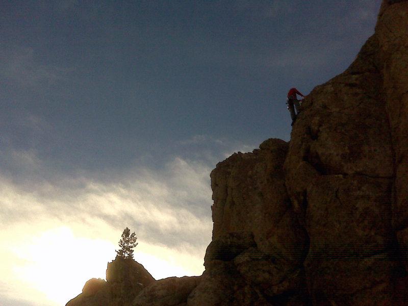 Climbing in January.