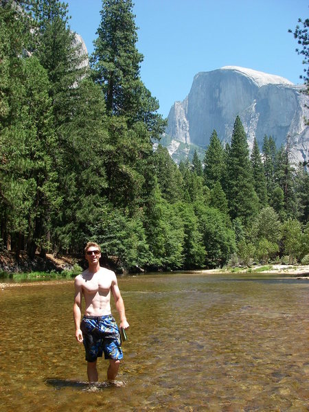 Rock Climbing Photo: me, the merced, and half dome