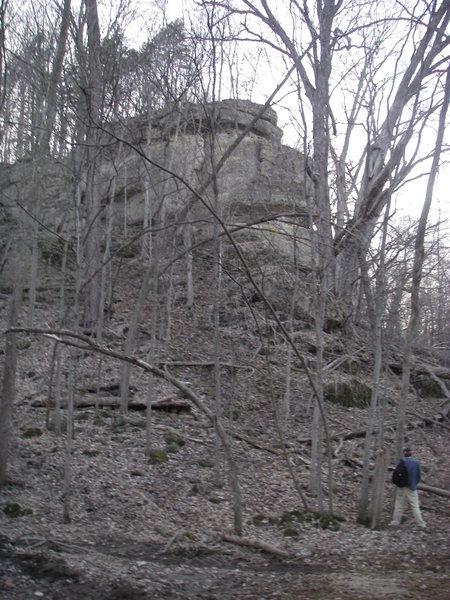 Crackface crag