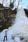 Rock Climbing Photo: These falls change a lot over the course of the wi...