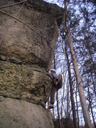 Rock Climbing Photo: Z overcoming the first bulge
