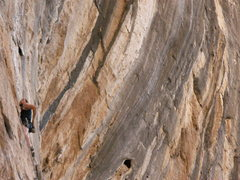 Rock Climbing Photo: british invasion 12a, bronco bowl in the backgroun...