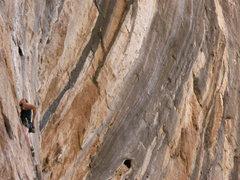 Rock Climbing Photo: british invasion 12a, bronco bowl in the backgroun...