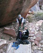 Rock Climbing Photo: Brett, and Anne packing up in Juniper Canyon after...