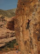 Rock Climbing Photo: Hayden half way through choads wild ride 11b &quot...