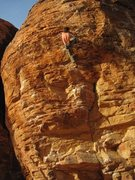Rock Climbing Photo: Hayden finishing STEEP THRILLS 12a sunny and steep