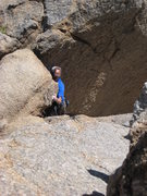 Rock Climbing Photo: Making my way up the summit on Pinnacle Peak.