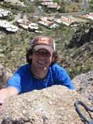Rock Climbing Photo: Summiting the crack on Pinnacle Peak. Ahh, the &qu...