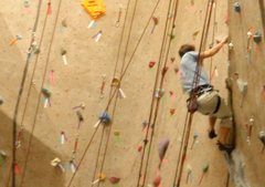 Toproping indoors at ClimbMax gym