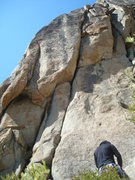 Rock Climbing Photo: The route.  It's the main crack splitting right up...