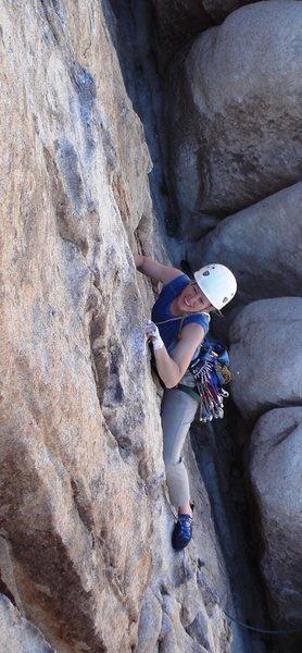 Climbing Mr. Misty Kiss, Dairy Queen Wall, J-Tree