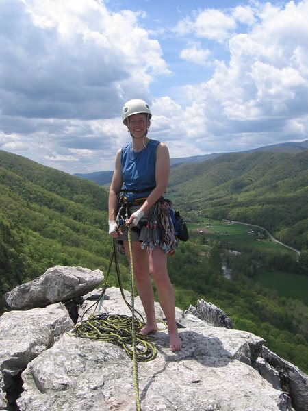 On top of the South Peak, Seneca Rocks, WV