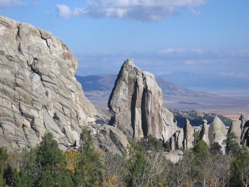 The Morning Glory Spire, City of Rocks (I am starting up Skyline)