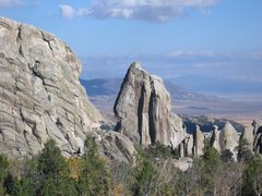 Rock Climbing Photo: The Morning Glory Spire, City of Rocks (I am start...