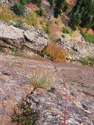 Rock Climbing Photo: Pitch 1 of Jam Crack, Big Cottonwood Canyon, UT