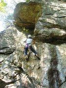 Rock Climbing Photo: Ellen on Dog Biscuit (5.10c), Rumney (harder than ...