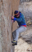 Rock Climbing Photo: Working the little edges down low on 'The Hunk', v...