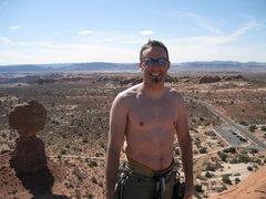 Rock Climbing Photo: todd - top of off-balanced rock (balanced rock in ...