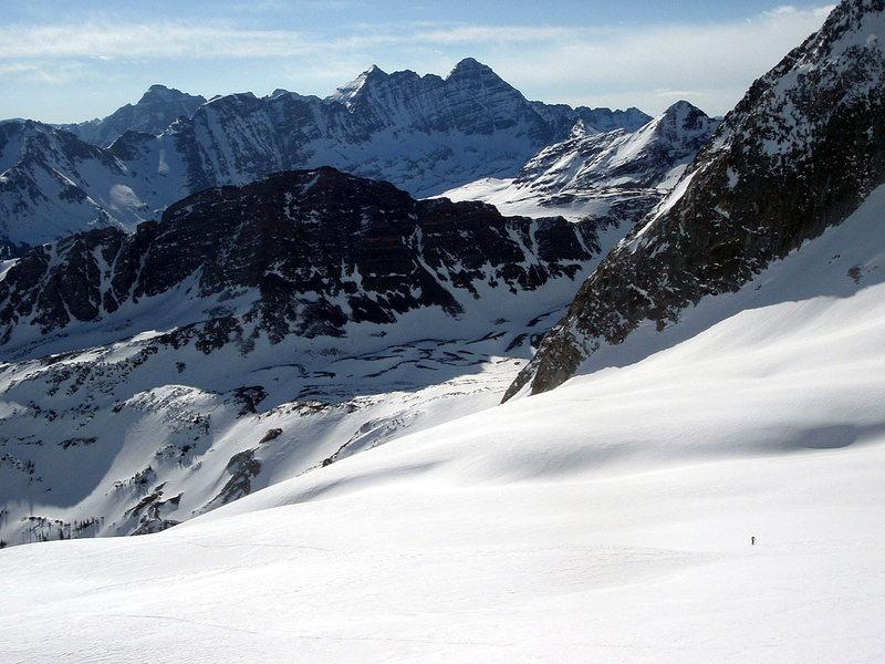 Skinning up Snowmass Mountain Elk Range Aspen, CO