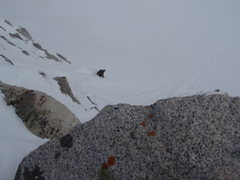 Rock Climbing Photo: Deep snow on the steeps!