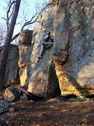 Rock Climbing Photo: The face moves.  Pretty fun.  April 09.