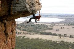 Rock Climbing Photo: Me leading Kachoong (21***). Photo: Steve Bright