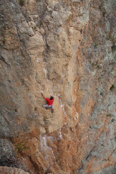 "Rock Climbing Photo: Walt Harker (US) on-site soloing ""Tannin&quot..."