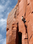 Rock Climbing Photo: Bill warming up on a 5.10, unsure of the name of t...