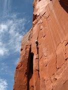 Rock Climbing Photo: Bill warming up on a 5.10.