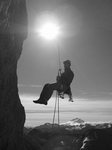 Rock Climbing Photo: Rapping off of Imaginate/Califa Fosil on Camponile...