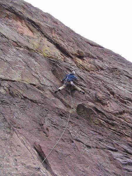 Rock Climbing Photo: The crux corner on P1....