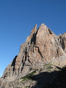 Rock Climbing Photo: Route takes obvious line up left side to airy summ...