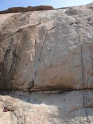 Rock Climbing Photo: Top Rope follows the seams in the middle of the pi...