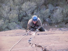 Rock Climbing Photo: Maurice Horn at the base of the finishing crack.