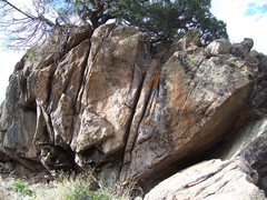 Rock Climbing Photo: Flared crack on far right side of boulder.