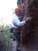 Rock Climbing Photo: Starting the Route