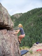 Rock Climbing Photo: Beautiful setting with great views!  Tracy on Fire...