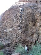 Rock Climbing Photo: Captain Morgan's final thrust!