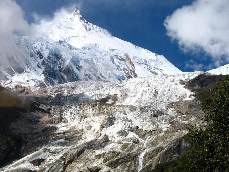 Rock Climbing Photo: Manaslu from 14,000'