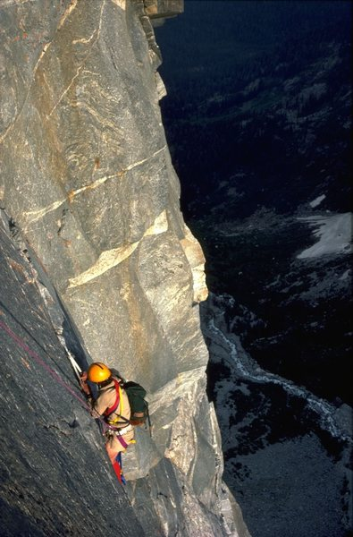 Kodachrome, gives us those nice bright colors..<br> Ralph Baldwin on the pendulum pitch. 1982