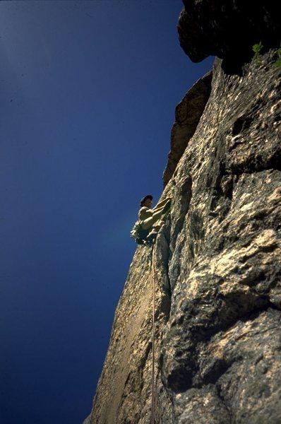Rock Climbing Photo: Joe Terravecchia on 3rd pitch. 1994
