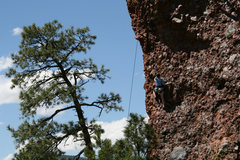 Rock Climbing Photo: Unknown climber