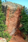 Rock Climbing Photo: Unknown climber self-belaying.