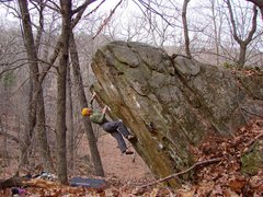 Rock Climbing Photo: Great problem!  April 09.  Photo Jay Nopola