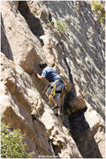 "Rock Climbing Photo: Top roping ""route 2"""