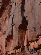Rock Climbing Photo: Scott pulling the final roof on Comic Relief and s...