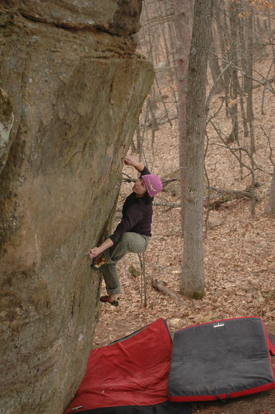 Rock Climbing Photo: Katie on the send go.