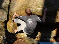 Rock Climbing Photo: The arrogant bastard on Battle of the Bulge.  Phot...