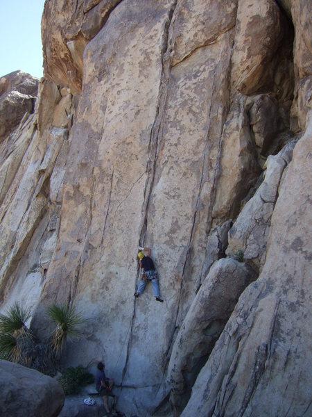 Rock Climbing Photo: Me on the Taxman, 5.10a, near Hemingway Buttress.