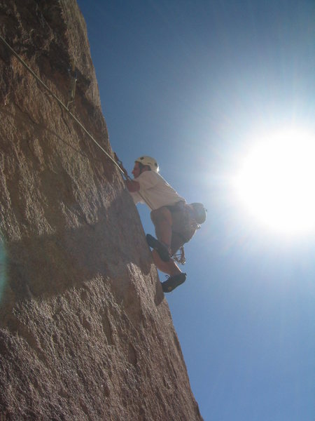 Rock Climbing Photo: Eric on Chemical Warfare (5.10b).